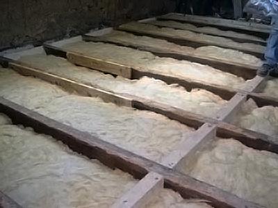 Как сделать обрешетку для деревянного пола Полы, стены, потолки.